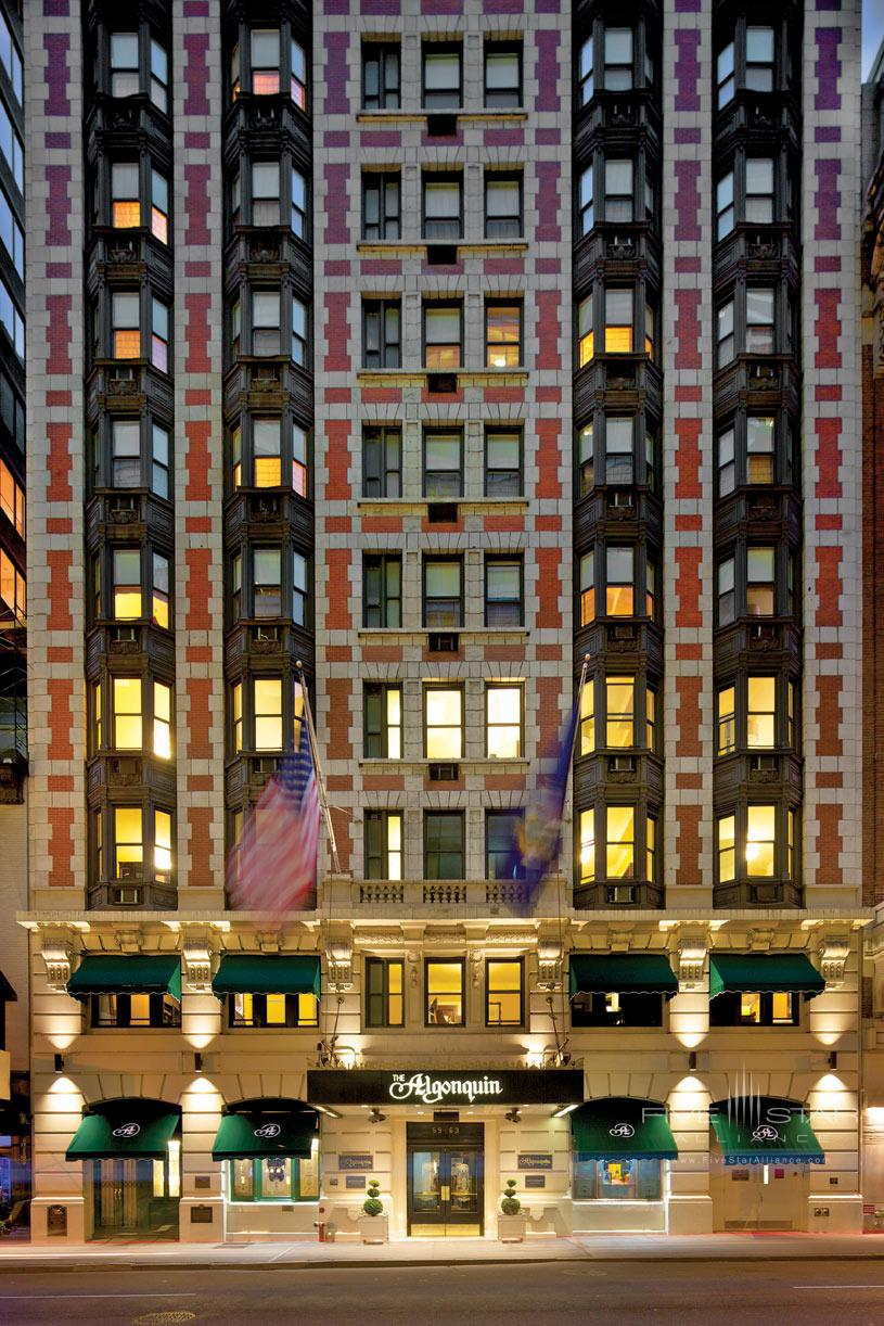 The Algonquin Hotel Exterior at Night