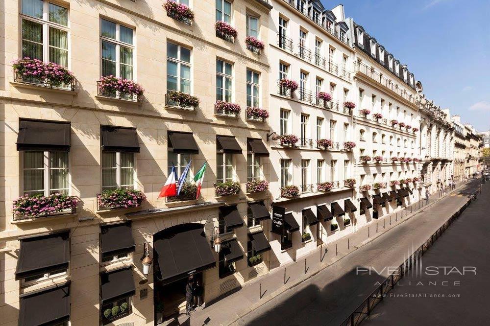 Exterior of Castille Paris