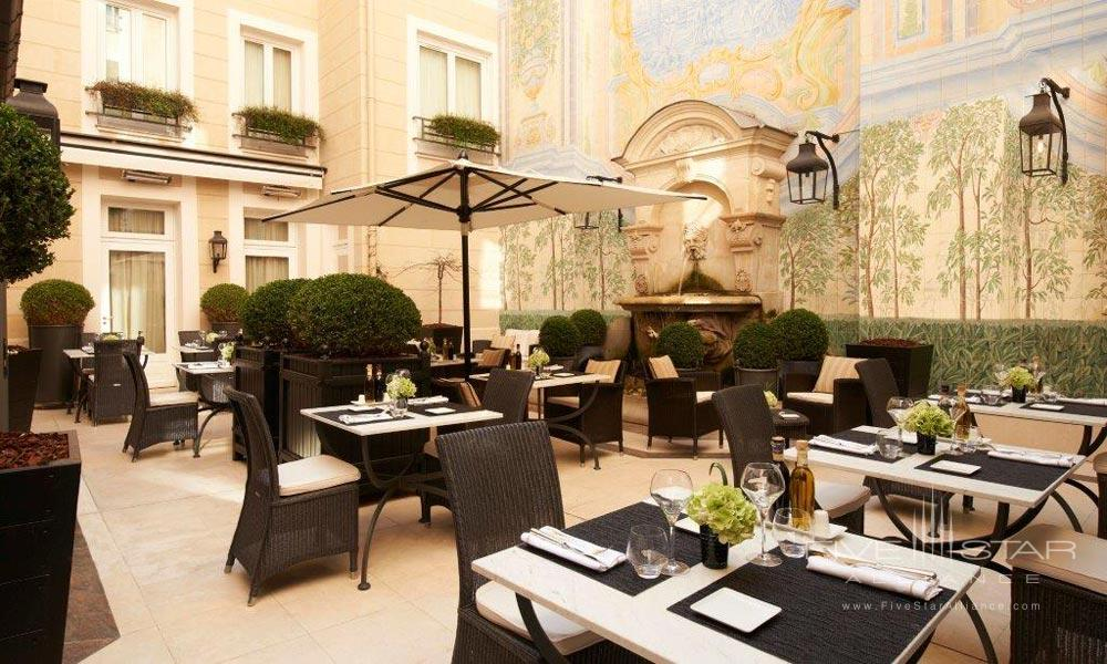 Hotel Main Pool at Castille Paris