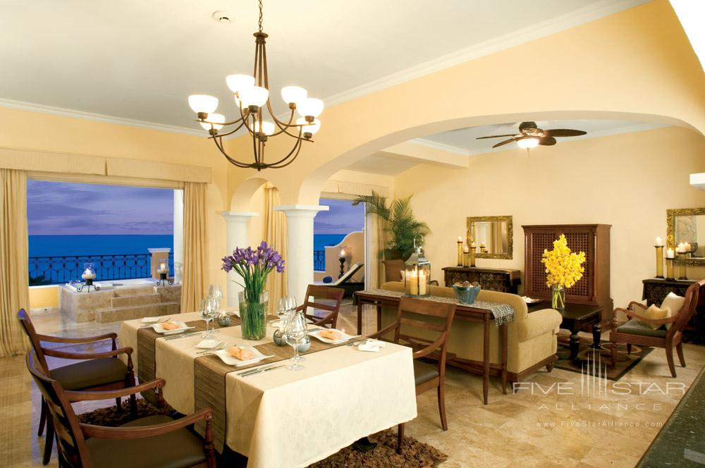 Dining area of Presidential Suite at Secrets Capri Riviera Cancun in Playa Del CarmenMexico