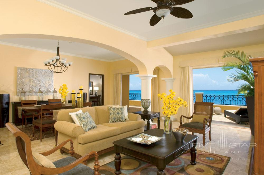Living room of Presidential Suite at Secrets Capri Riviera Cancun in Playa Del CarmenMexico