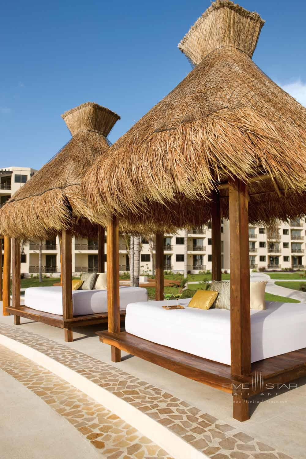 Beach Cabanas at Dreams Riviera Cancun Resort and Spa