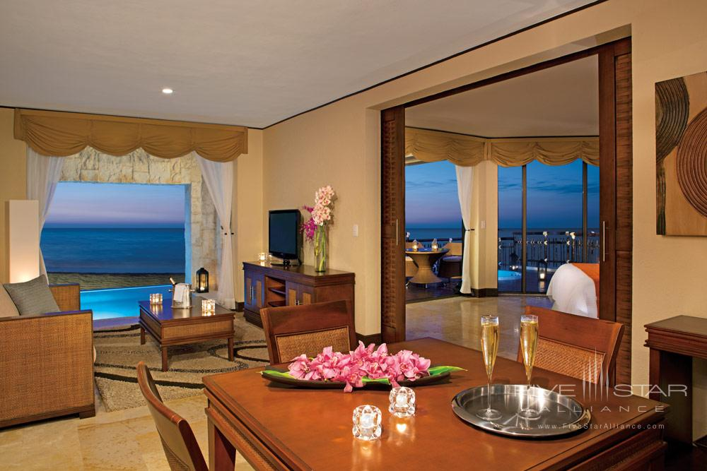 Living Area of Governor Suite at Dreams Riviera Cancun Resort and Spa