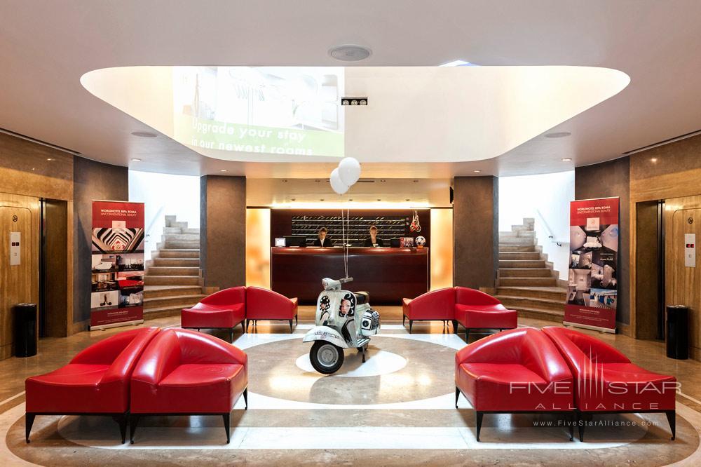Lobby of Ripa Hotel, Rome, Italy