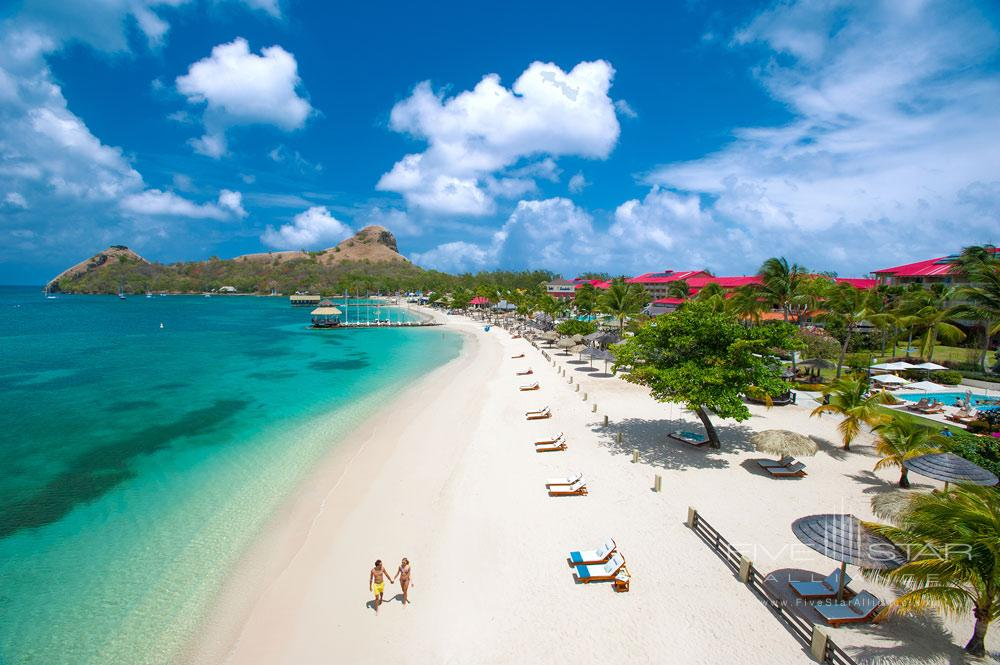 Beach at Sandals Grande St. Lucian