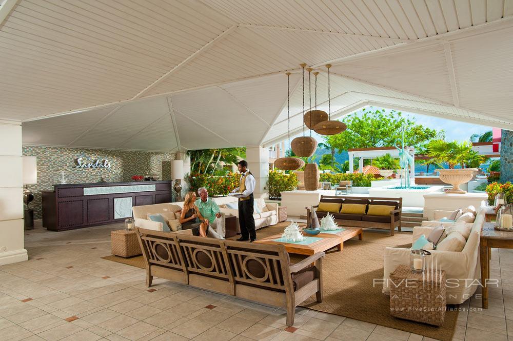 Lobby at Sandals Grande St. Lucian Gros Islet, Saint Lucia