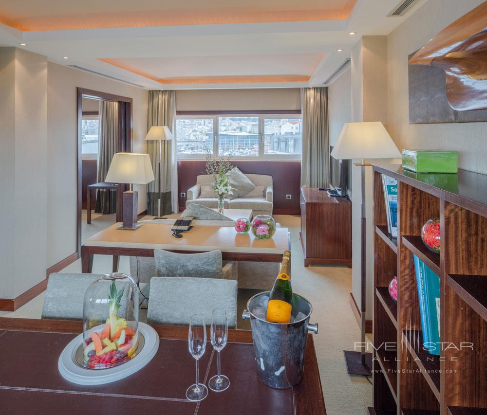 Suite Living Area at Hesperia Finisterre, Spain
