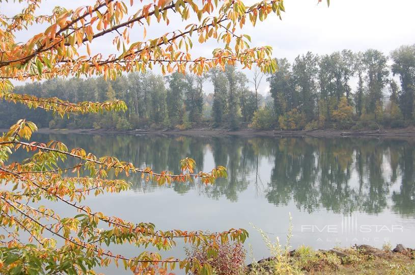 Lake at Rivers Edge Hotel