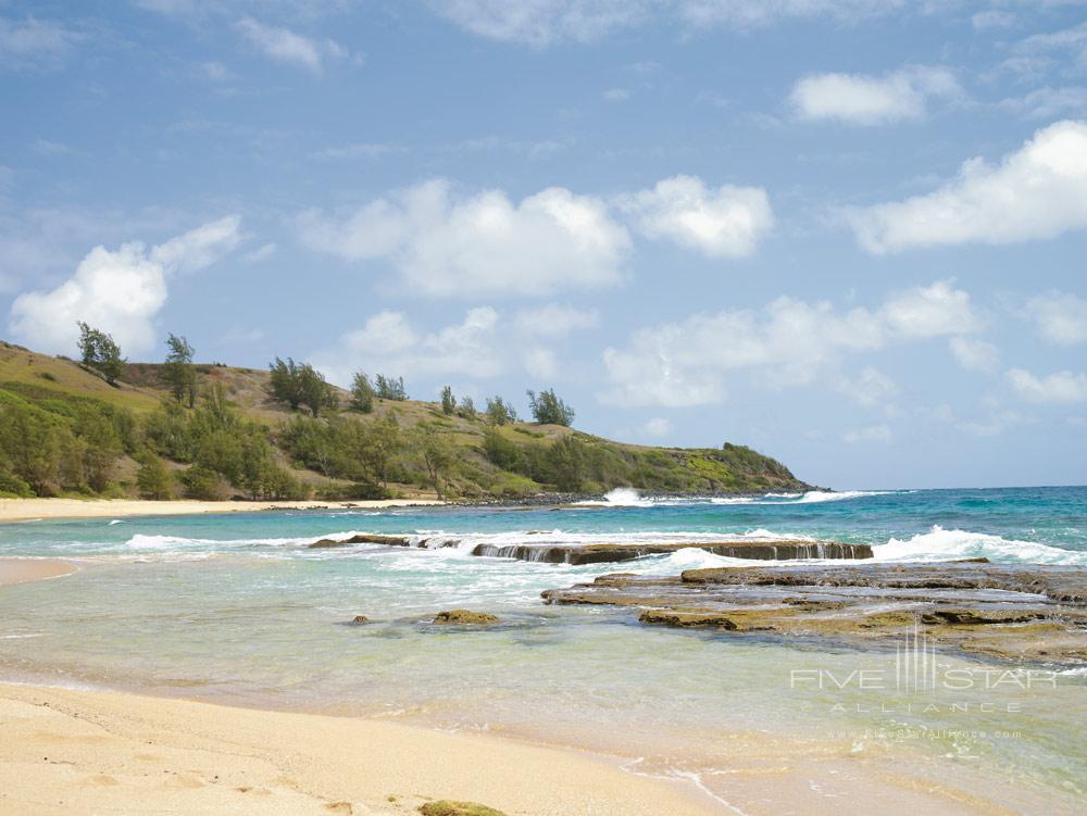 Beach at The Westin Princeville Ocean Resort Villas, HI