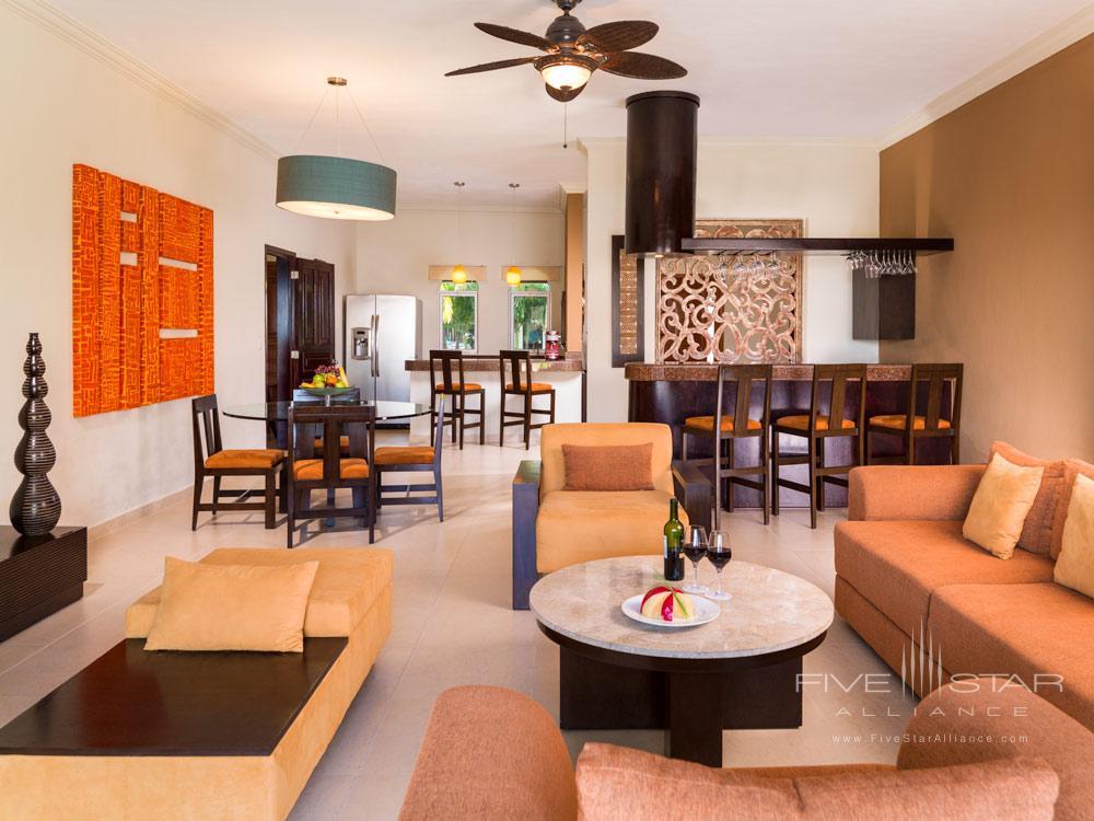 Presidential Suite Coba Living Room at El Dorado Royale Spa Resort