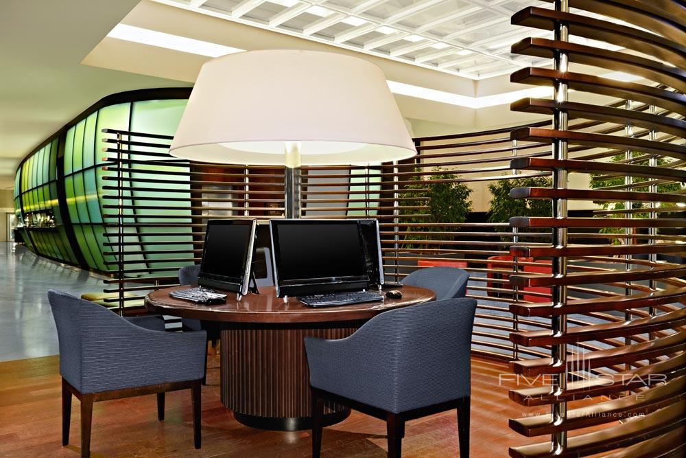 Business Center at Sheraton Hotel Charles De Gaulle Airport RoissyFrance