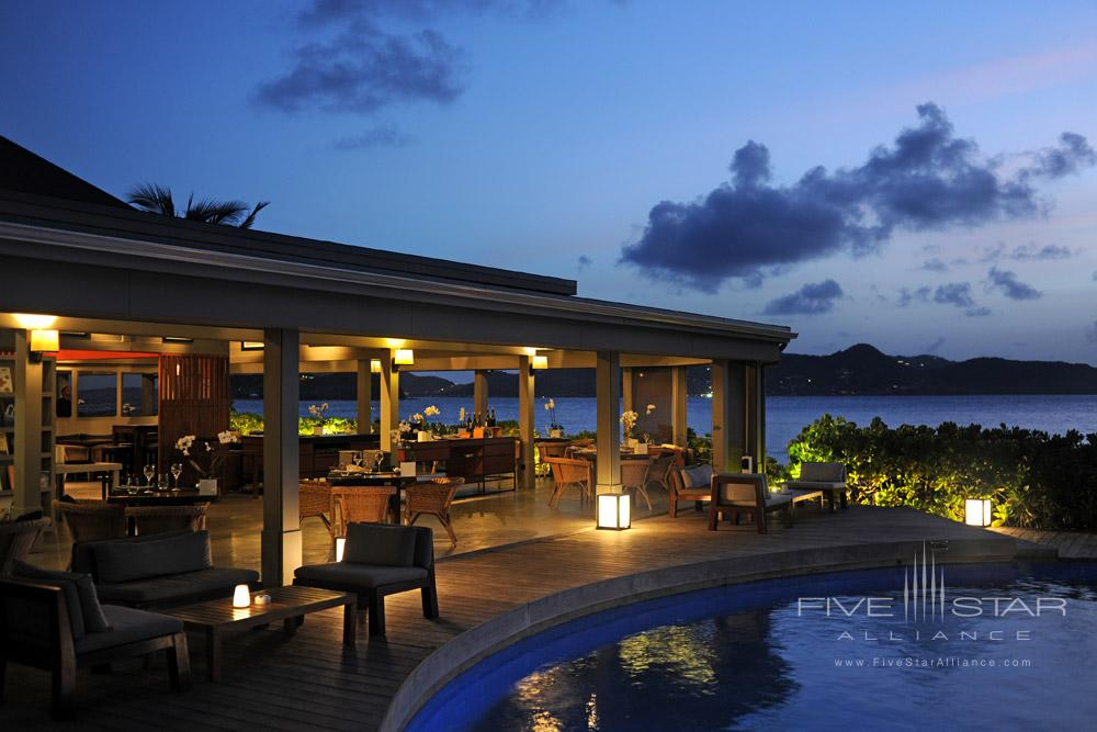 Taino by Piter dining venue at Hotel Le Christopher, Saint-Barthelemy
