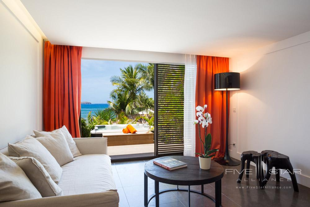 Terrace of sitting room at Hotel Le Christopher St Barth