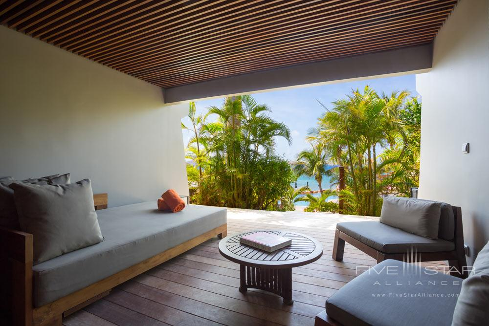 Terrace and lounge at Hotel Le Christopher St Barth
