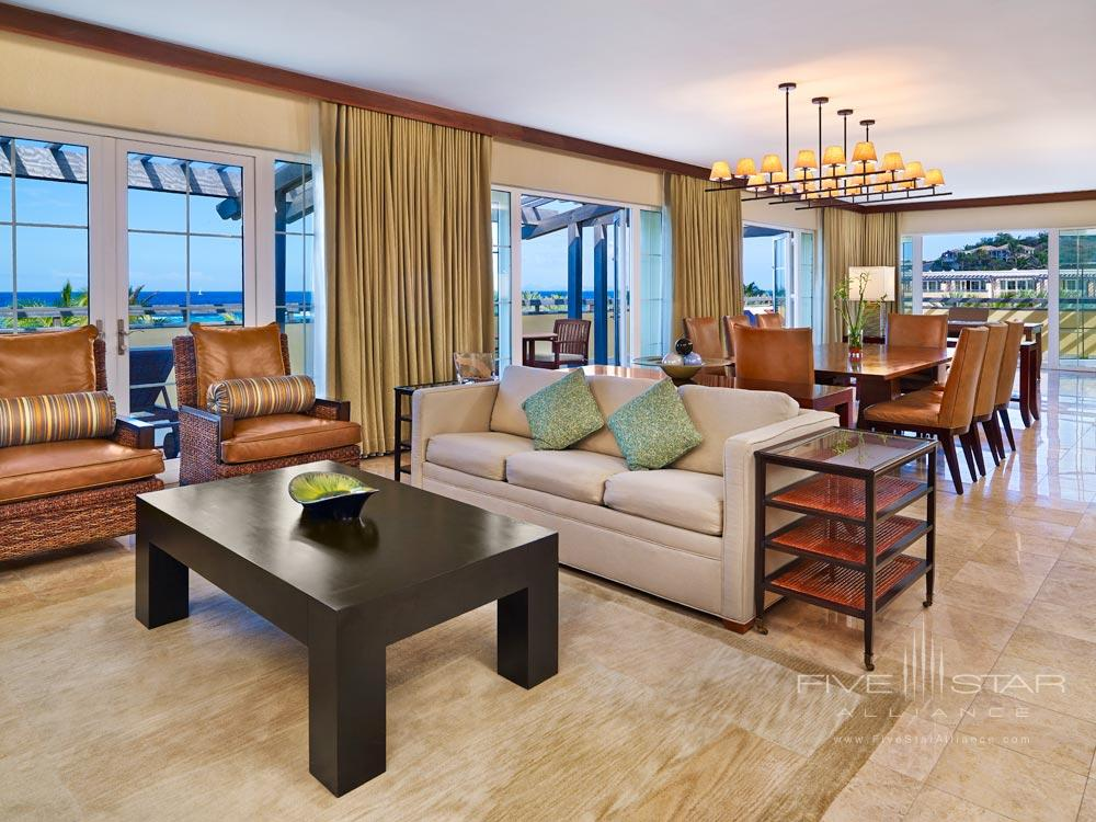 Presidential Suite Lounge at Westin Dawn Beach Resort