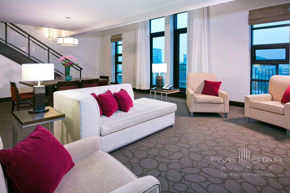 Loft Suite Living Area at Delta Victoria Ocean Pointe Resort and SpaVictoriaCanada