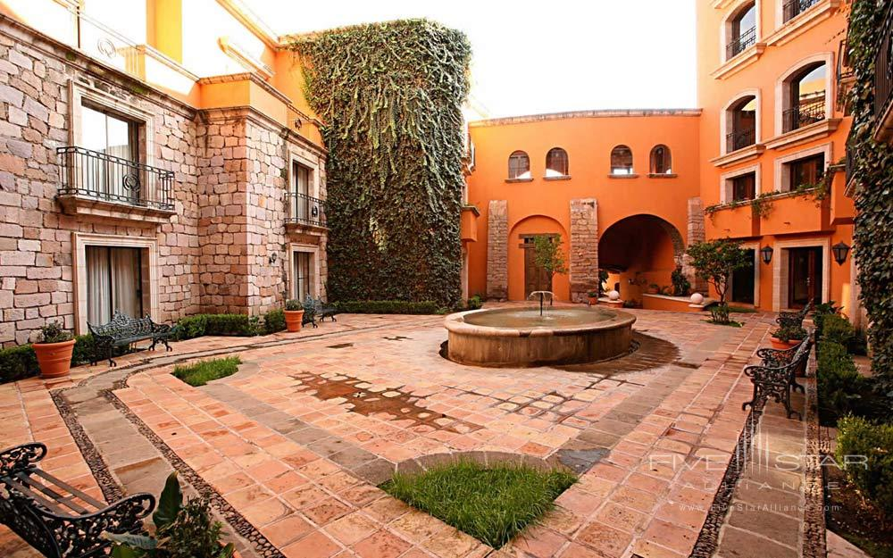 Courtyard of Hotel Quinta Real ZacatecasMexico