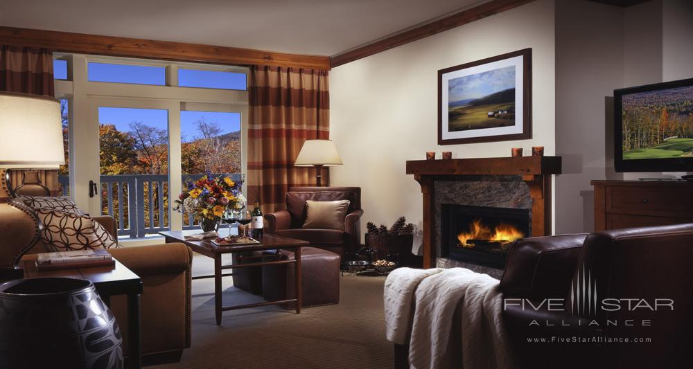 Stowe Mountain Lodge Suite Living Area