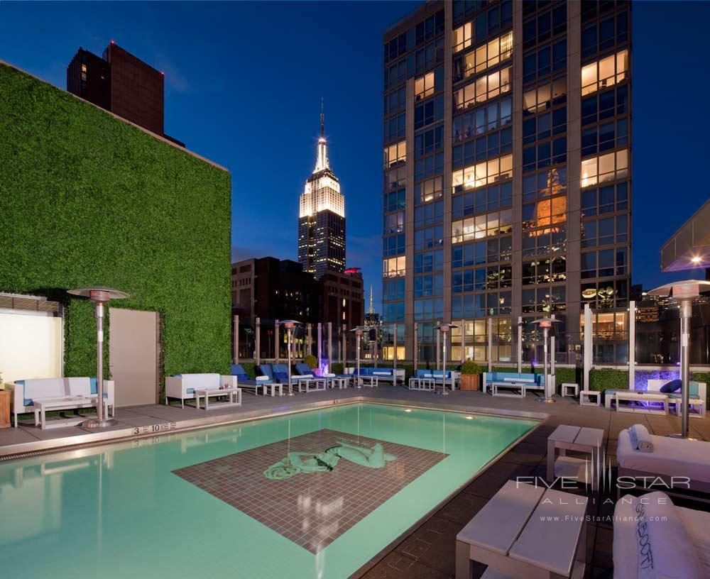 Pool and Exterior of Gansevoort Park Avenue