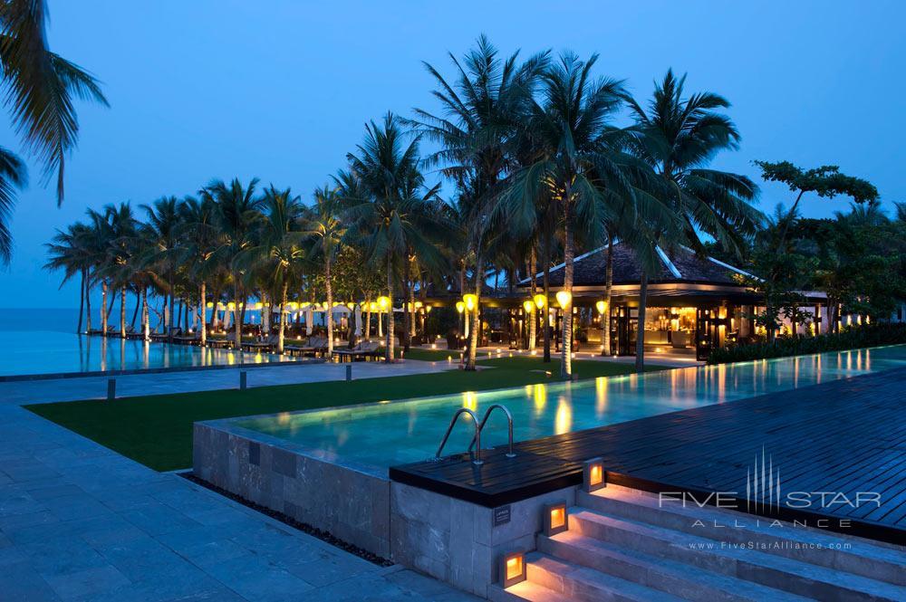 Dining at the Beach Restaurant at Nam Hai Hotel