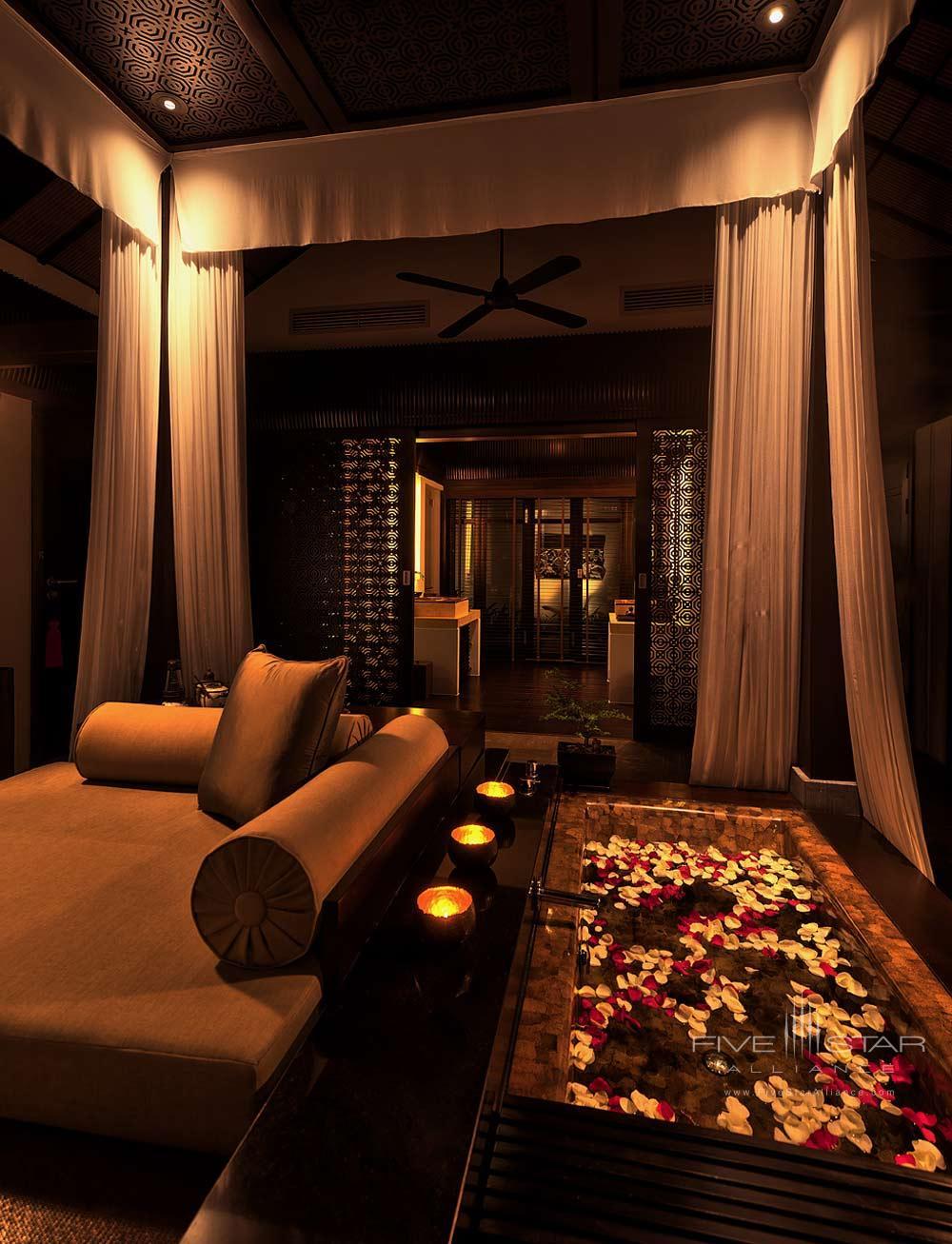 Bedroom of Villa at Nam Hai Hotel