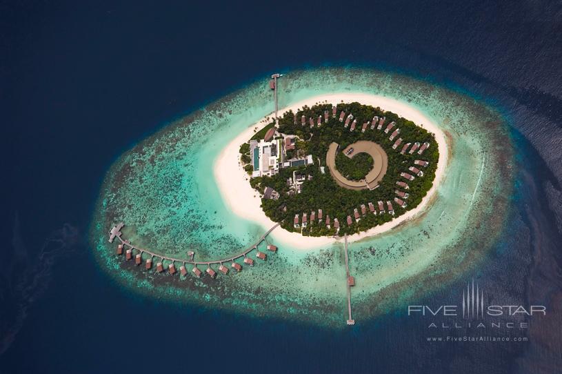 Park Hyatt Maldives Hadahaa Aerial Close-up of the Resort