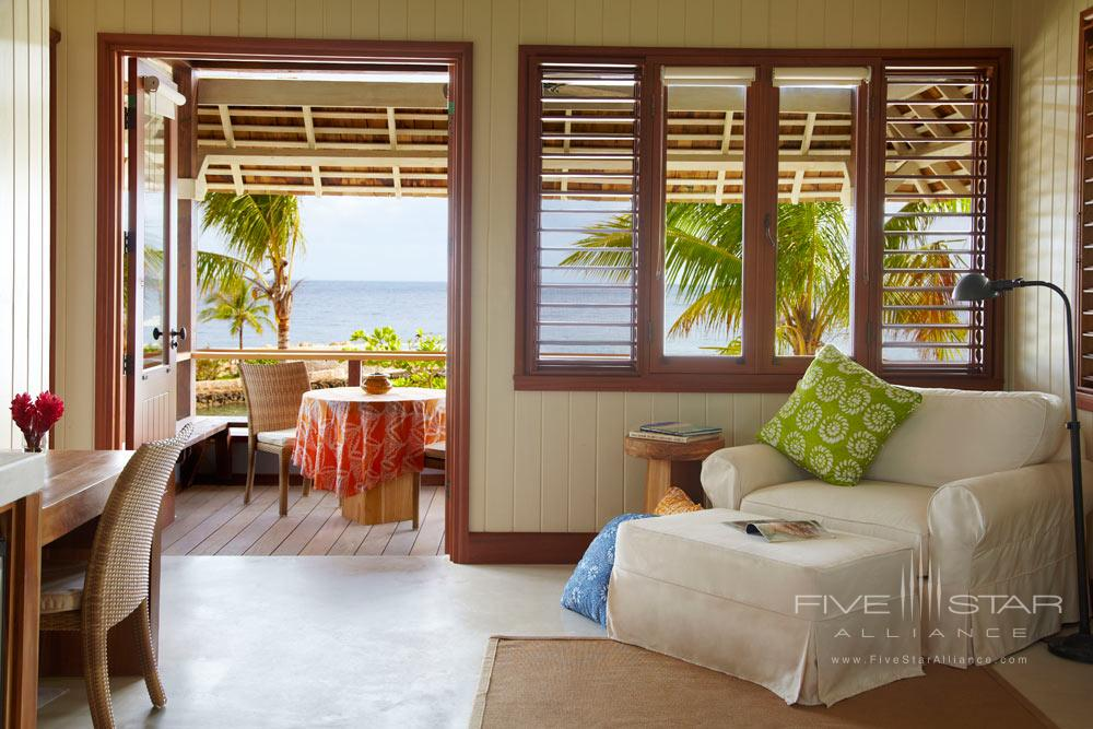 Beach Cottage Interior Veranda at GoldenEye Hotel and Resort St. MaryJamaica