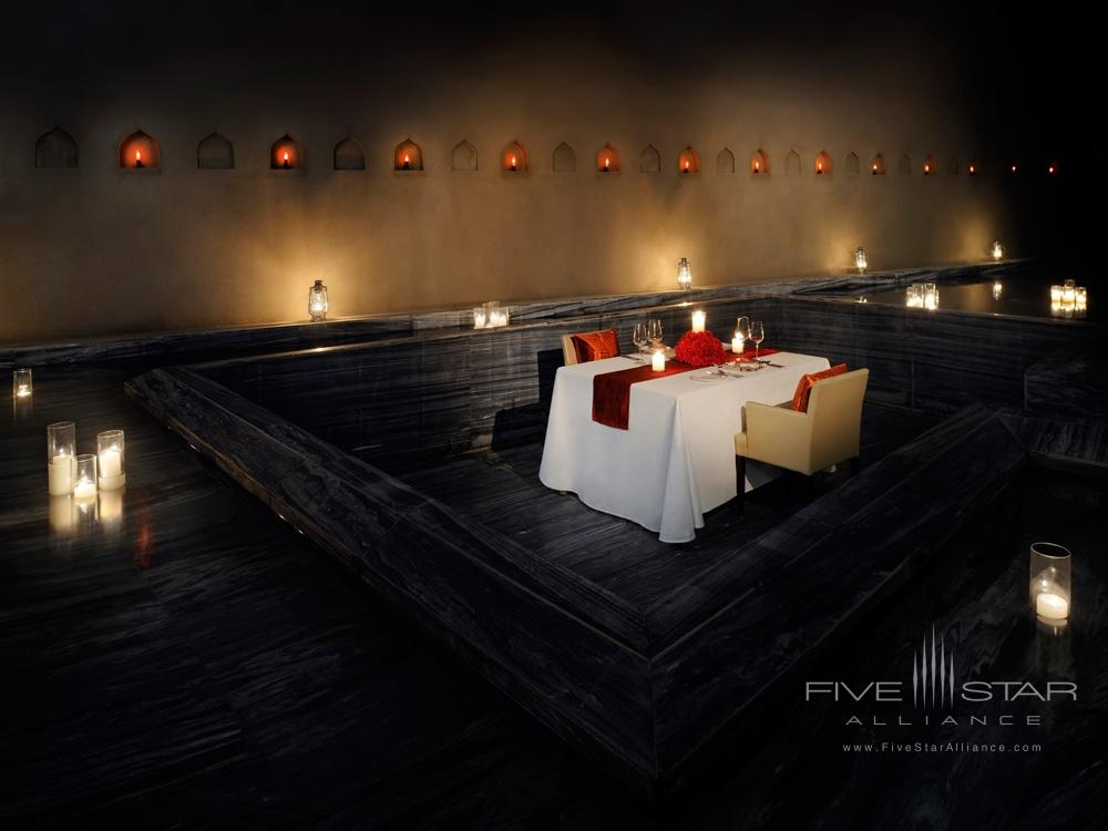 Private dining space at Lebua Resort JaipurRajasthanIndia