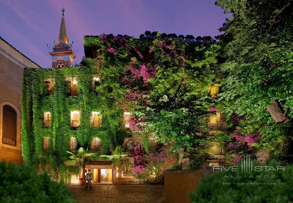 Hotel Garden at Hotel Raphael Rome, Rome, Italy