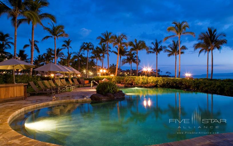 Wailea Beach Villas Pool at Night