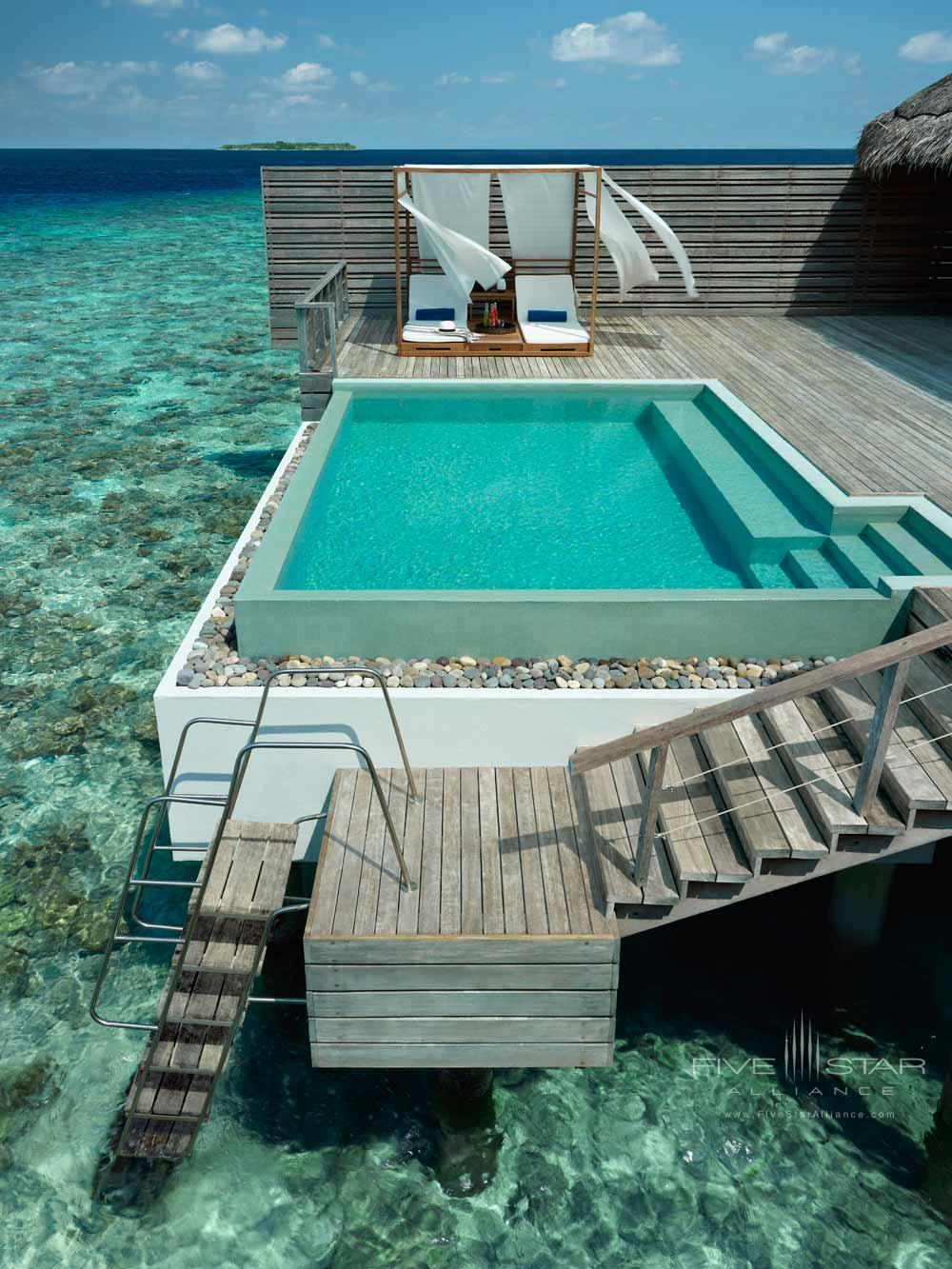 Ocean Villa Plunge Pool by the Sea at Dusit Thani Maldives