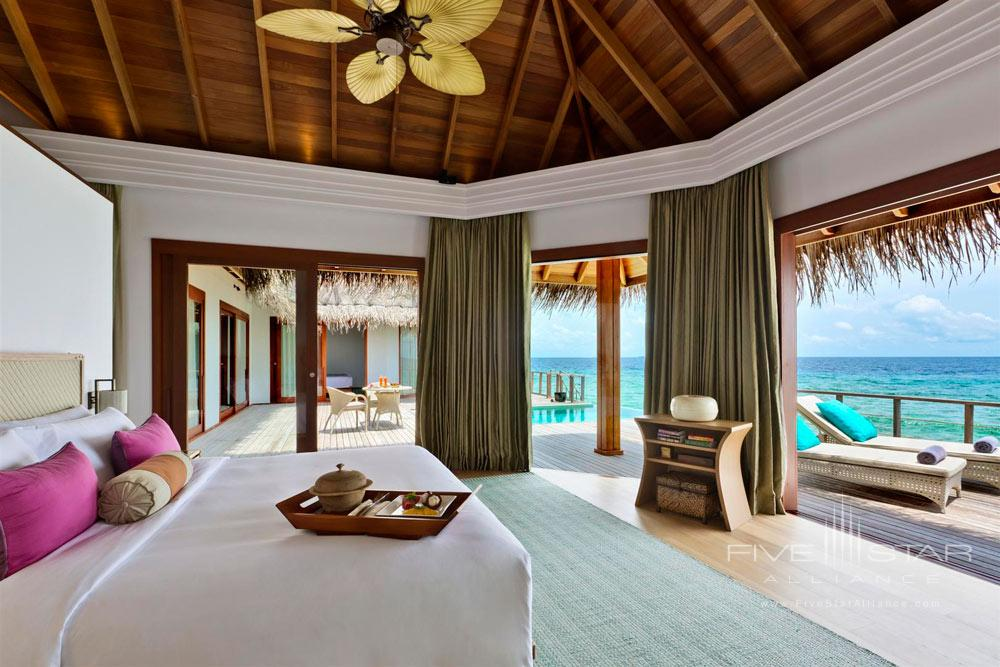 Master Bedroom of the Ocean Pavilion at Dusit Thani Maldives