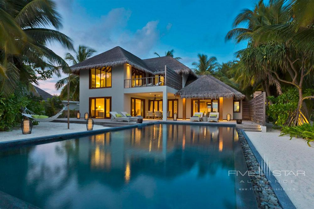 Exterior of the Beach Residence at Dusit Thani Maldives