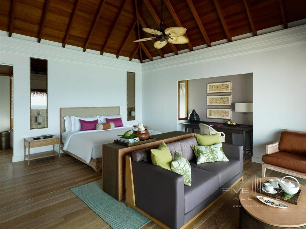 Water Villa Bedroom at Dusit Thani Maldives