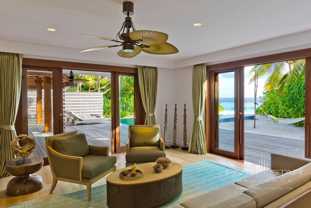 Lower Floor Beach Residence Family Room at Dusit Thani Maldives