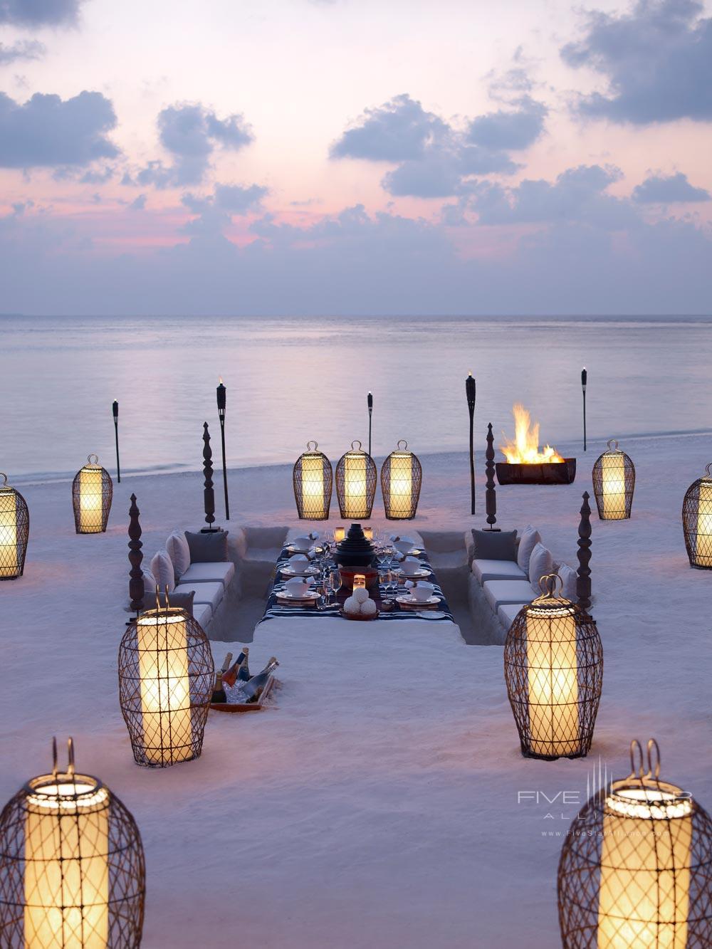 Border less Romantic Private Beach Dining at Dusit Thani Maldives