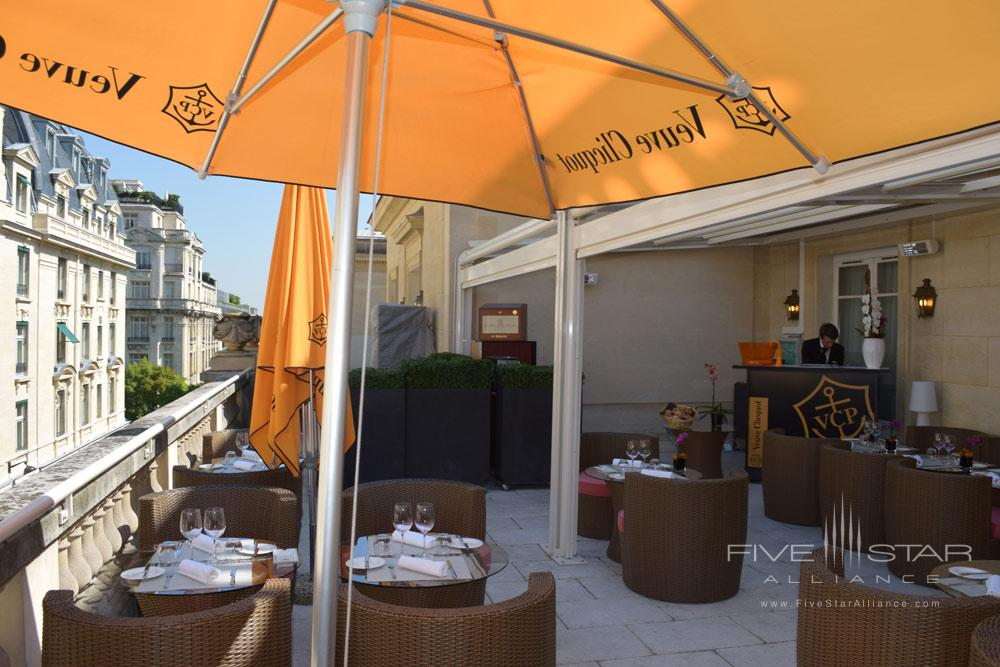Terrace at Villa and Hotel Majestic Paris, France