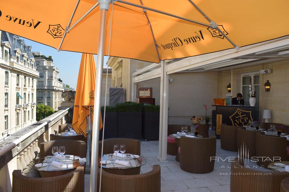 Terrace at Villa and Hotel Majestic ParisFrance