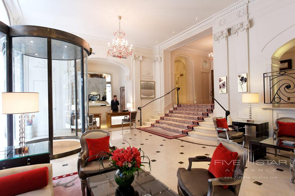 Lobby at Villa and Hotel Majestic Paris, France