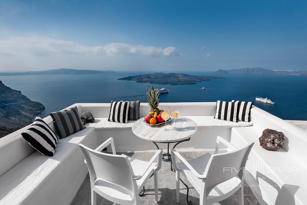 Balcony Lounge at Aigialos HotelSantoriniGreece
