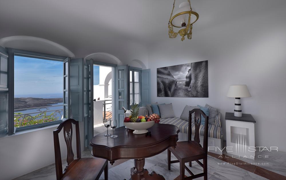 Suite Dining Room at Aigialos HotelSantoriniGreece