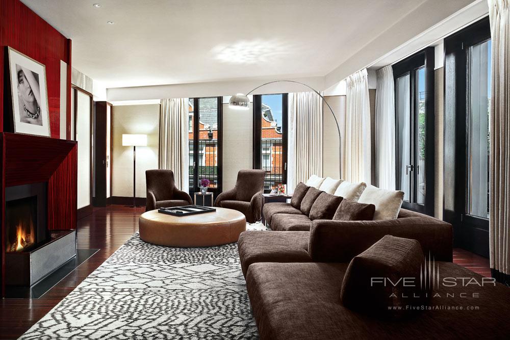 Bulgari Suite Living Area at Bulgari Hotel and Residences LondonUK