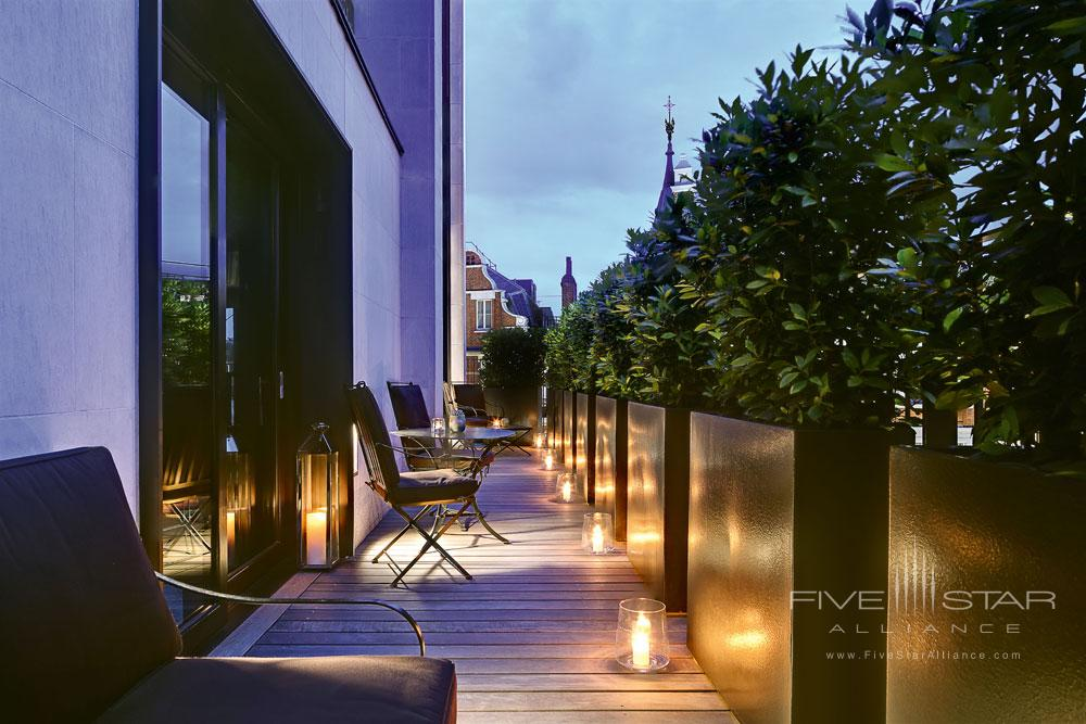 Suite Balcony at Bulgari Hotel and Residences LondonUK