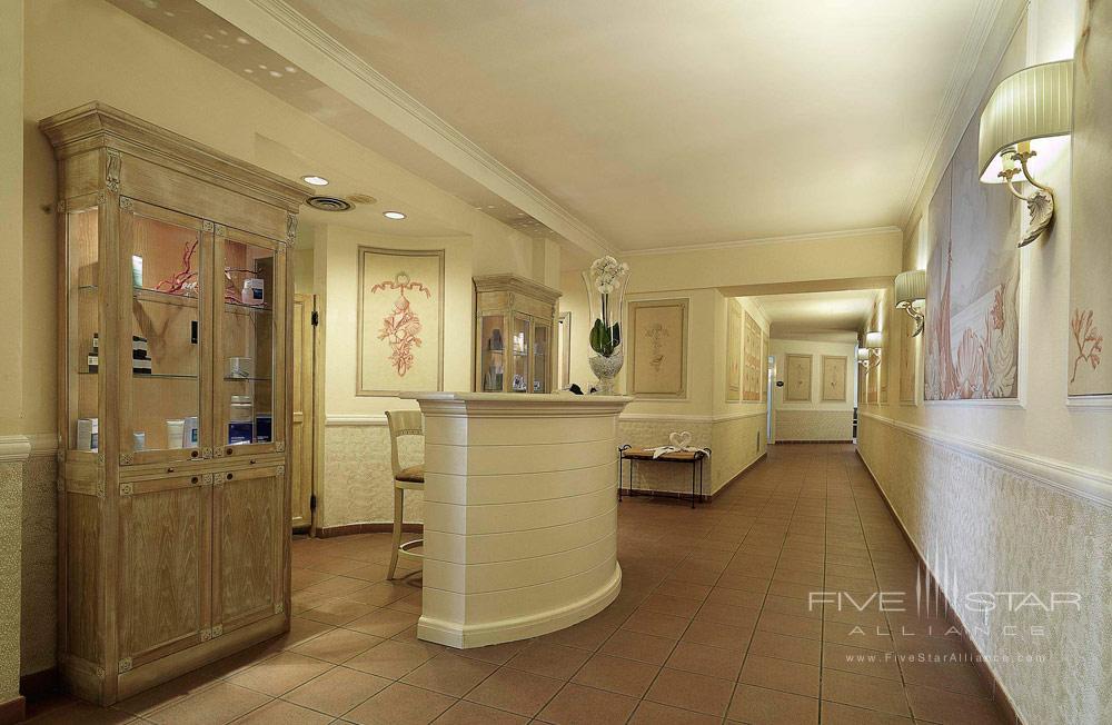 Beauty Farm Reception Area at Excelsior Palace Hotel Rapallo, Italy