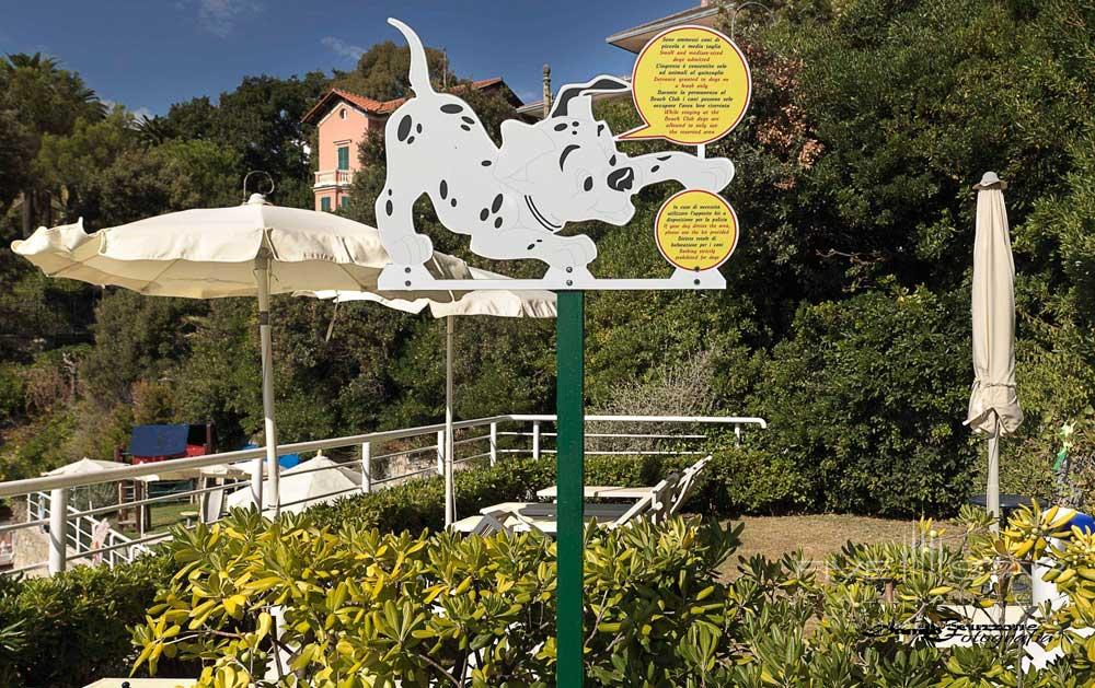 Beach Club Dog Area at Excelsior Palace Hotel Rapallo, Italy