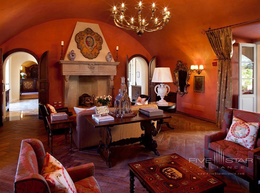 Library at Hotel Castello di Casole