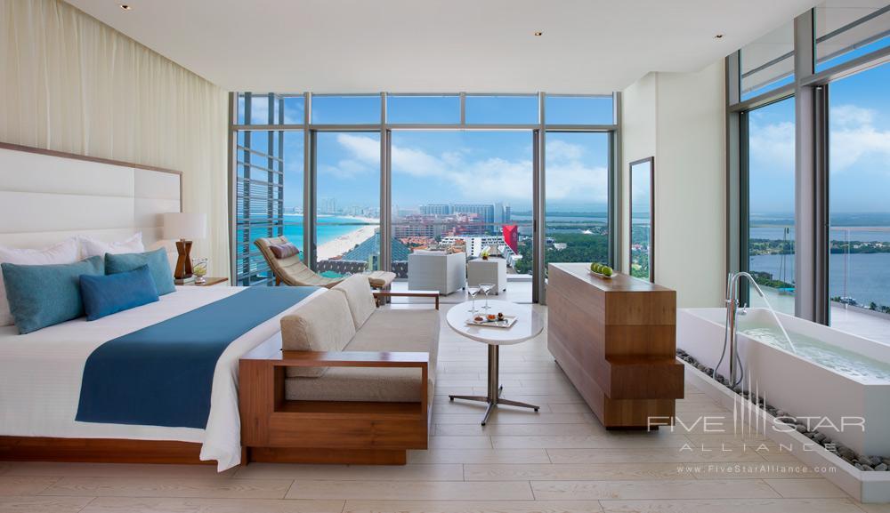 Preferred Club Honeymoon Suite Oceanview at Secrets The Vine Cancun, Mexico