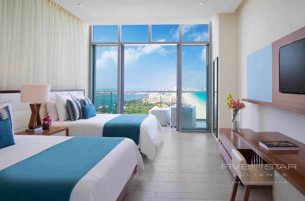 Preferred Club Oceanview Deluxe Doubles at Secrets The Vine Cancun, Mexico