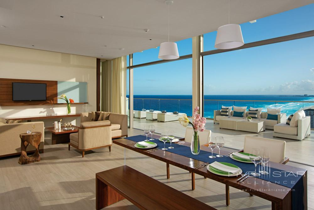 Presidential Suite Living room area at Secrets The Vine Cancun, Mexico