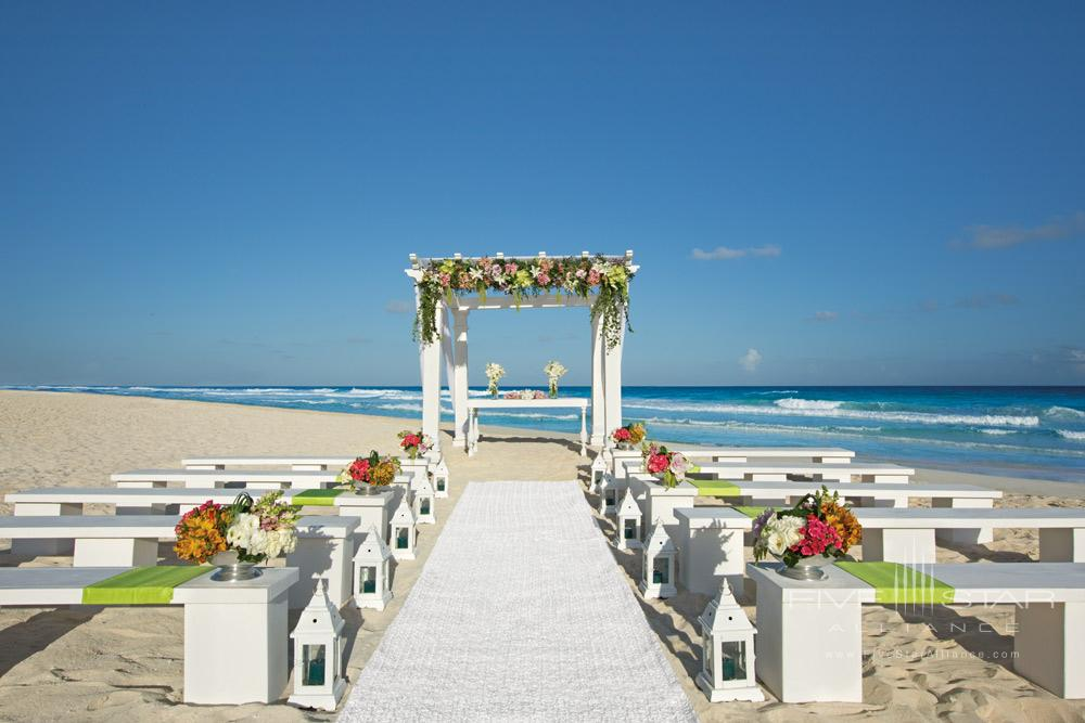 Beach wedding at Secrets The Vine CancunMexico